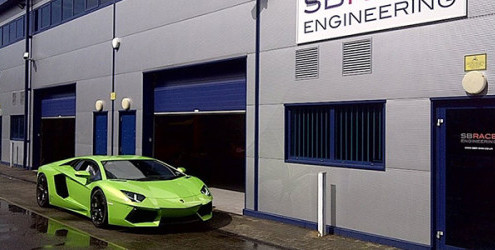 Aventador arrives at SBR to discuss exhaust systems