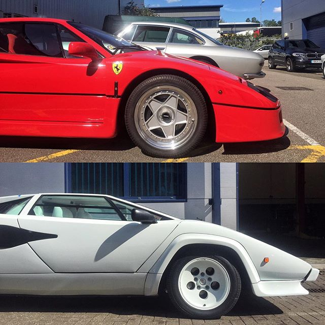 ferrari f40 vs lamborghini countach at sbraceengineering sbr ferrari lamborghini london. Black Bedroom Furniture Sets. Home Design Ideas