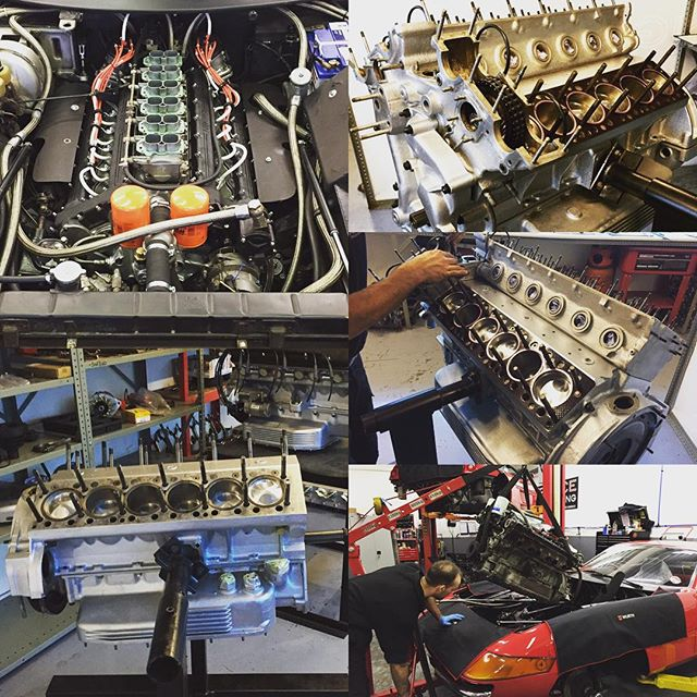 Blown up Daytona engine rebuilt and back in... #sbraceengineering #ferrari #specialist #daytona #classic #365gtb4 #engine