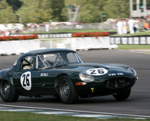 SB Supporting the E type at the Goodwood TT