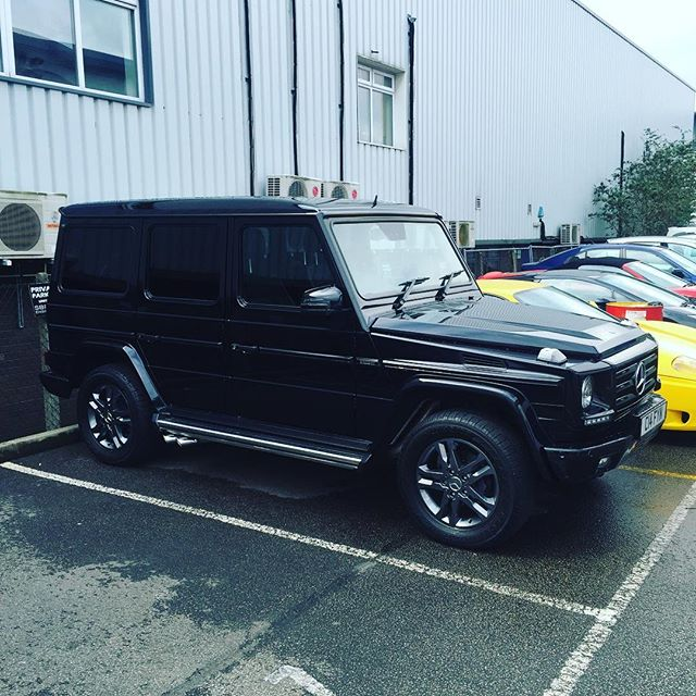 Not our usual thing, but what the hell! New exhaust and Brabus re-remap all done.. #gwagon #mercedes #brabus #exhuast #sbraceengineering #scuderiacarparts