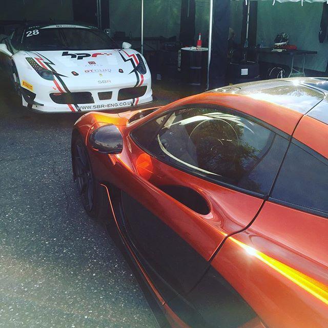 Another day starts at Brands Hatch..#458challenge #ferrari #458 #sbr #sbraceengineering #mclaren #mclarenp1 #horsepowerracing