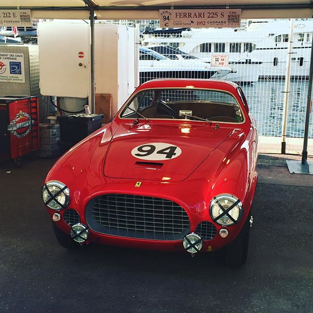 Well we made it here, epic amounts of work by the team defying the odds. Special thanks to @redesignsport for the insane amount of hours put in!#ferrari #225s #sbraceengineering #redesignsport #red #monacoclassic #team