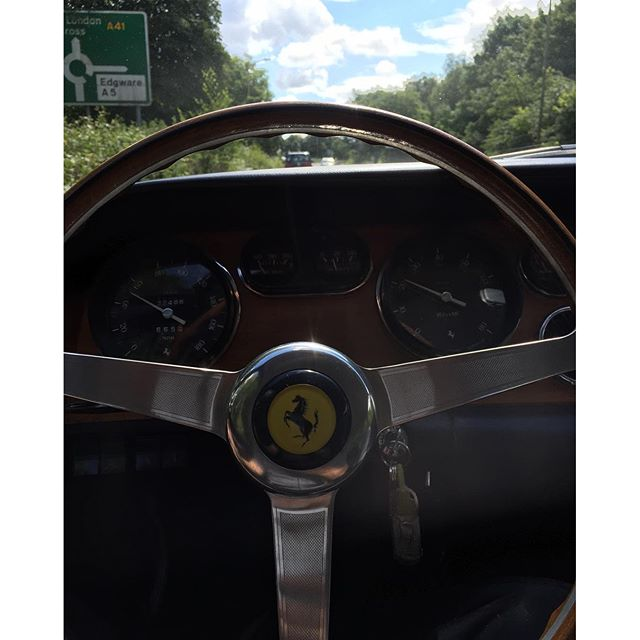 Just cruising, guess the car!? ...#ferrari #classic #sunday #summertime