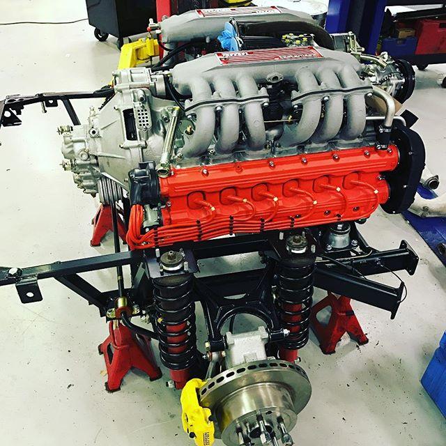 Testarossa engine build and rear end restoration is coming on well...#sbraceengineering #sbr #ferrari #engine #rebuild #testarossa #redhead #