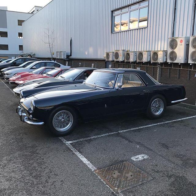 250 PF Coupe in for restoration... old school cool ? #ferrari #250pfcoupe #250 #blue #classiccars #ferrari365 #246dino #restoration