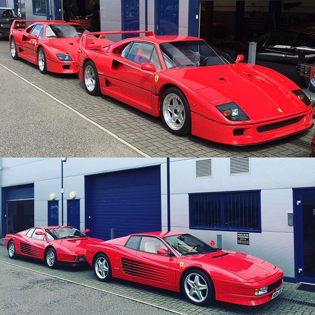 We love pairs here at SB...#red #speacialist #ferrari #f40 #testarossa #sbraceengineering
