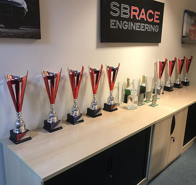 15 races, 9 wins, 6 2nd places....Only space for our first place trophies from GT Cup Championship! and yes we did win our class   #sbraceengineering #sbr #ferrari #gtc #gtcup #racing #experience #458 #458challengeevo #paulbailey #winning #weknowwhatweredoing #nextseason #racingislife #hpr