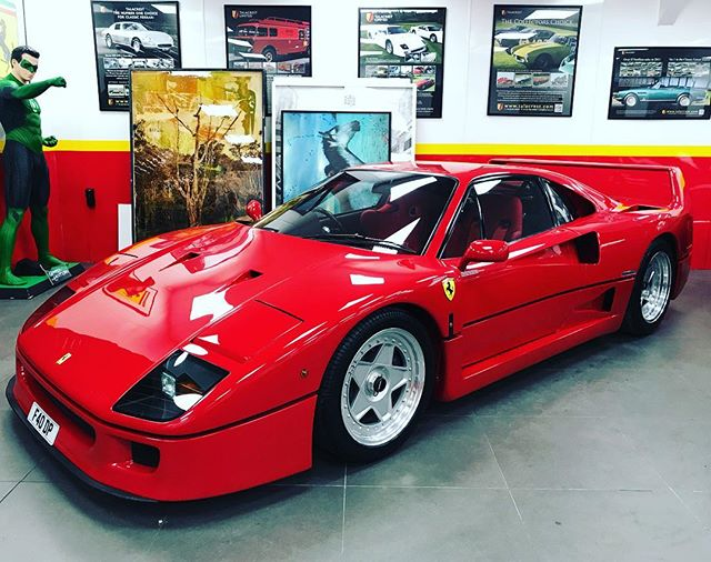 One of a handful of RHD F40's ever made! Stunning condition, currently for sale at @talacrest .. #ferrari #ferrarif40 #righthanddrive #sbraceengineering #f40 #v8 #twinturbo #v8twinturbo #200mphclub