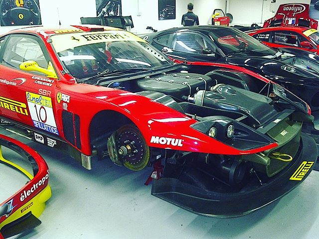 Flash back to 2011 when we we finishing off a 575gtc rebuild a 430GTC and one of three 430 challenge Cars we were running. #ferrari #ferrariracing #575gtc #430gtc #430gt2 #michelotto #430challenge #racingcar #rebuild #specialist #team #sbr #sbraceengineering