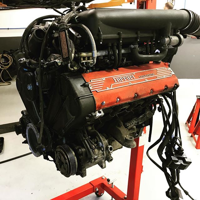 Another engine out for rebuilding!! I'm sure that's one a day for the last few weeks!! ....#ferrarispecialist #ferrari #ferrari355 #355 #engineering #enginebuild #engine #v8 #supercars #watford