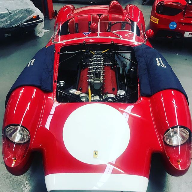 250TR in for a few jobs....#testarossa #250tr #ferrari #1957 #488 #488challenge #classic #oldandnew #dino #ferrariracing #sbraceengineering #specialists