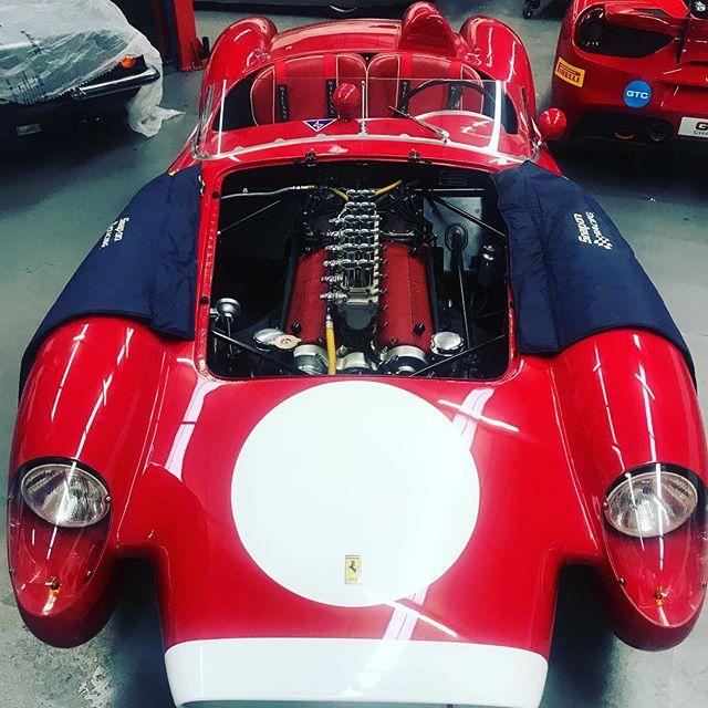 250TR in for a few jobs....#testarossa #250tr #ferrari #1957 #488 #488challenge #classic #oldandnew #dino #ferrariracing #sbraceengineering #specialists